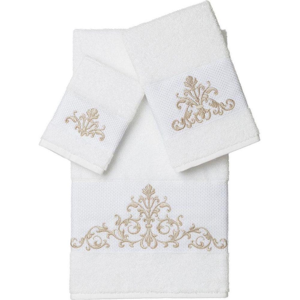 リナムホームテキスタイル ユニセックス 財布・時計・雑貨 タオル White 【サイズ交換無料】 リナムホームテキスタイル Linum Home ユニセックス タオル 【Scarlet 3-Pc. Embellished Towel Set】White