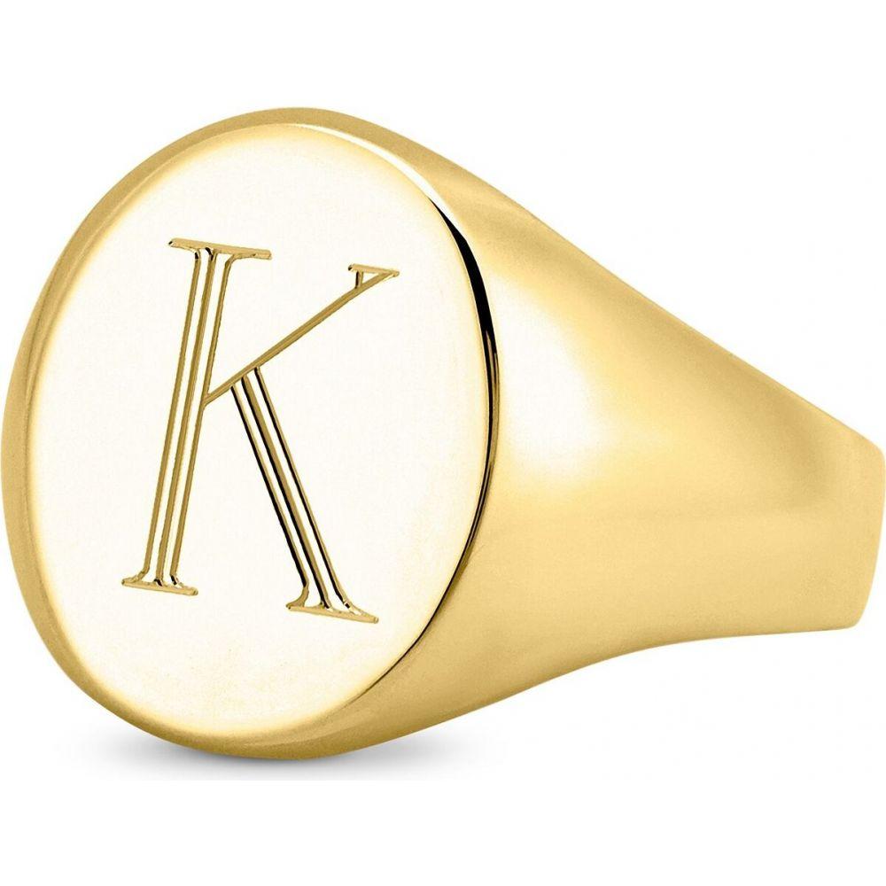 サラクロエ ユニセックス ジュエリー・アクセサリー 指輪・リング 【サイズ交換無料】 サラクロエ Sarah Chloe ユニセックス 指輪・リング シグネットリング ジュエリー・アクセサリー【Initial Signet Ring in 14K Gold-Plated Sterling Silver】