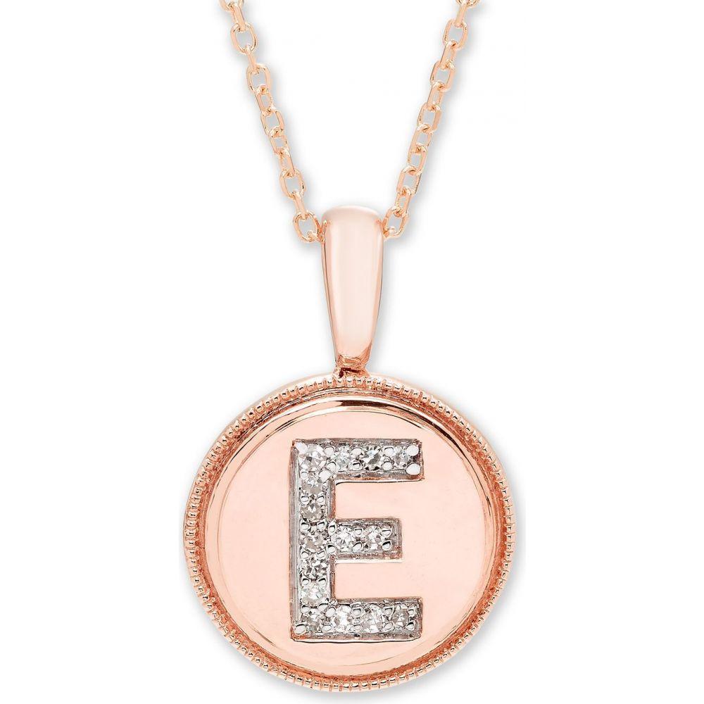 メイシーズ 新作 お気にいる ユニセックス ジュエリー アクセサリー サイズ交換無料 Macy's Diamond Gold Accent 14k Initial Rose Pendant in