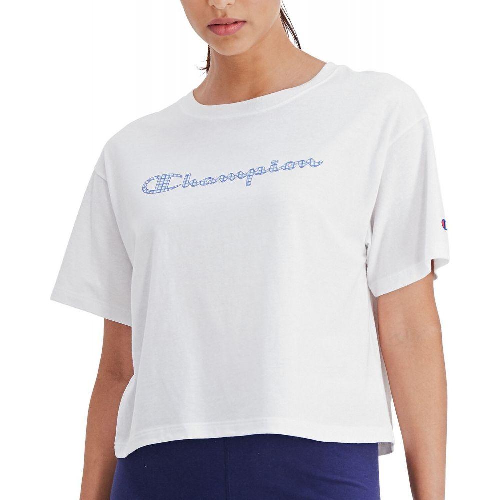 チャンピオン レディース トップス ベアトップ チューブトップ 2020A W新作送料無料 クロップド White Champion サイズ交換無料 Tシャツ T-Shirt Graphic-Print [並行輸入品] Cropped