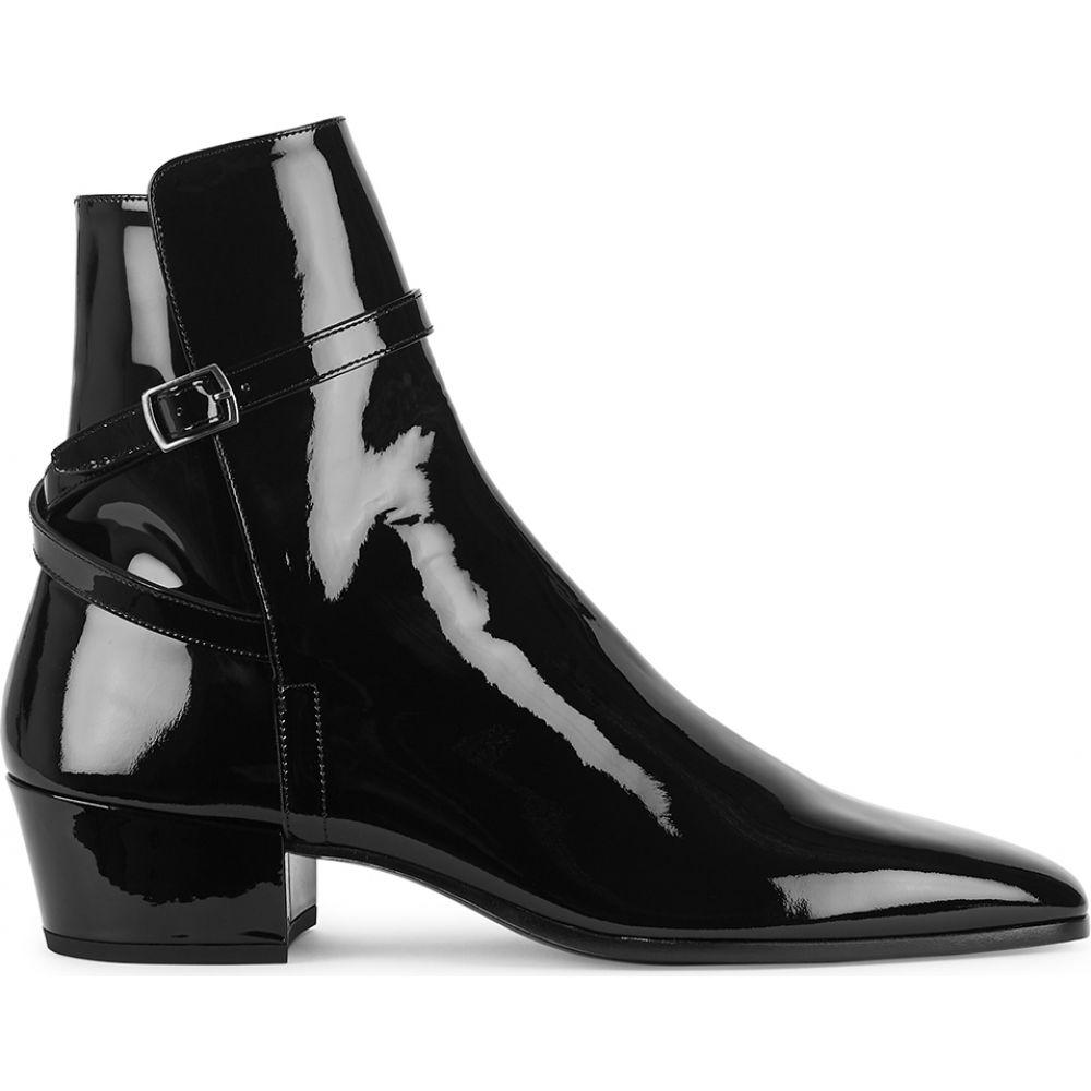 イヴ サンローラン Saint Laurent レディース ブーツ ショートブーツ シューズ・靴【Clementi 45 Black Patent Leather Ankle Boots】Black