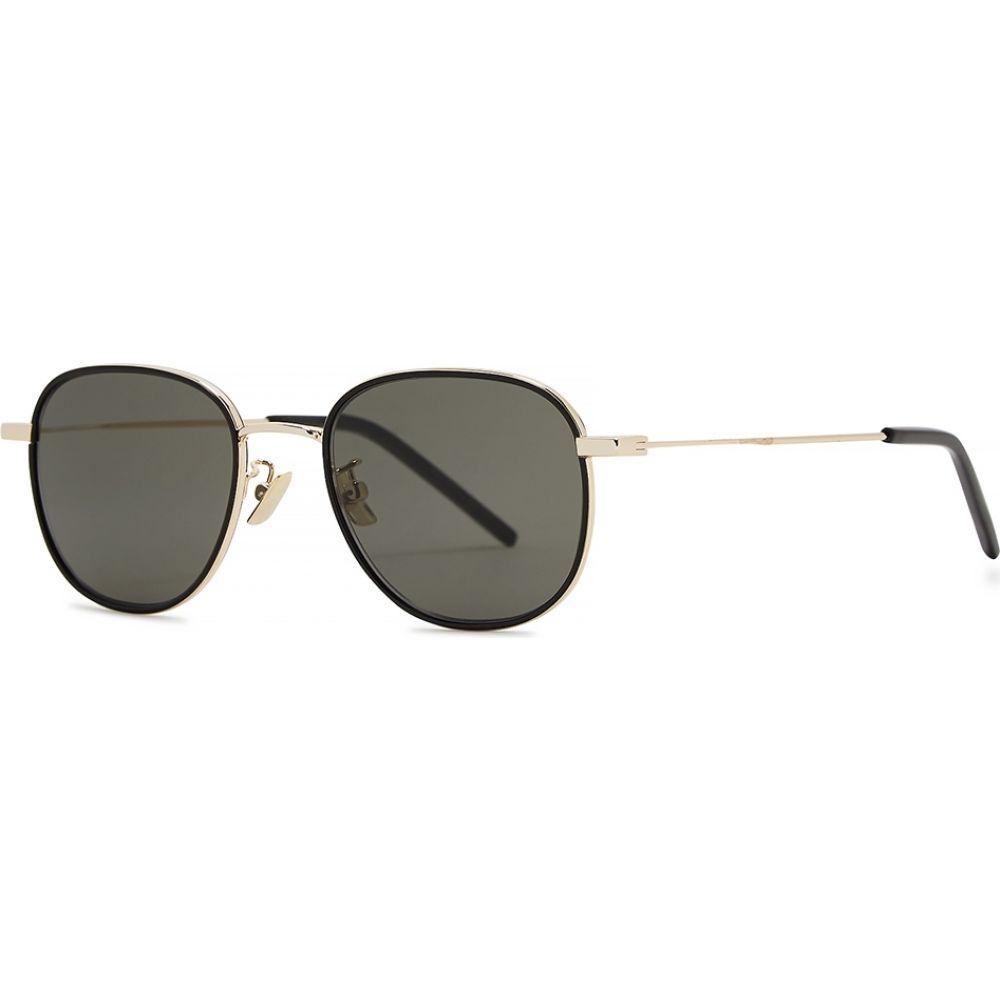 イヴ サンローラン Saint Laurent レディース メガネ・サングラス 【Sl361 Gold-Tone Oval-Frame Sunglasses】Grey