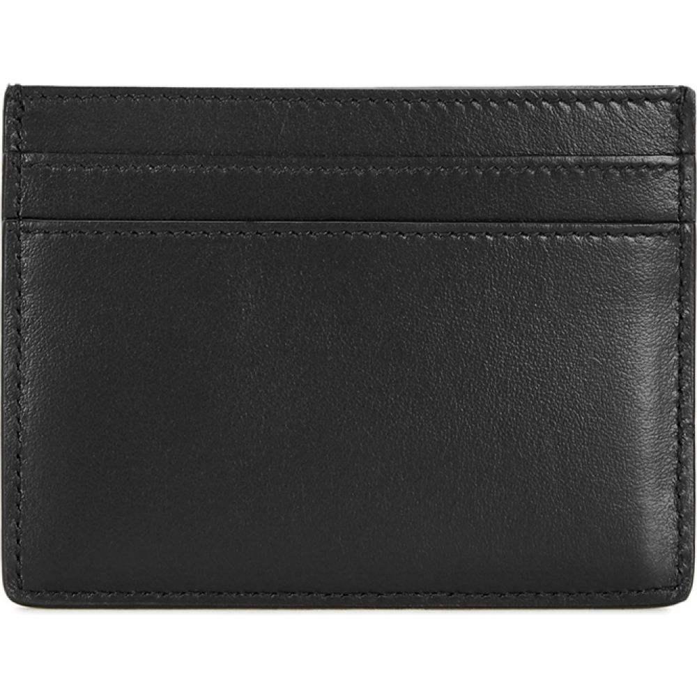 イヴ サンローラン Saint Laurent メンズ カードケース・名刺入れ カードホルダー Black Studded Leather Card Holder BlackZXwkiuOPTl