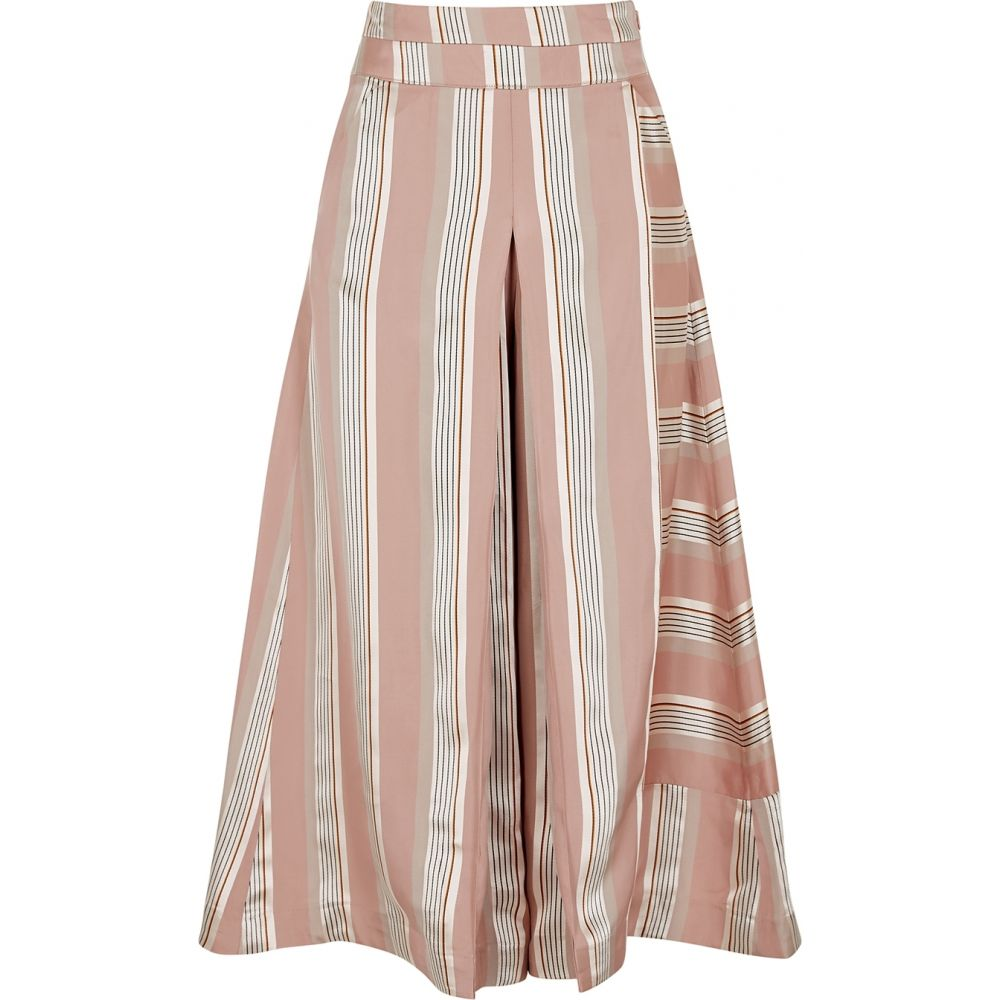 パルマーハーディング palmer//harding レディース ボトムス・パンツ キュロット【Vana Striped Satin Culottes】Pink
