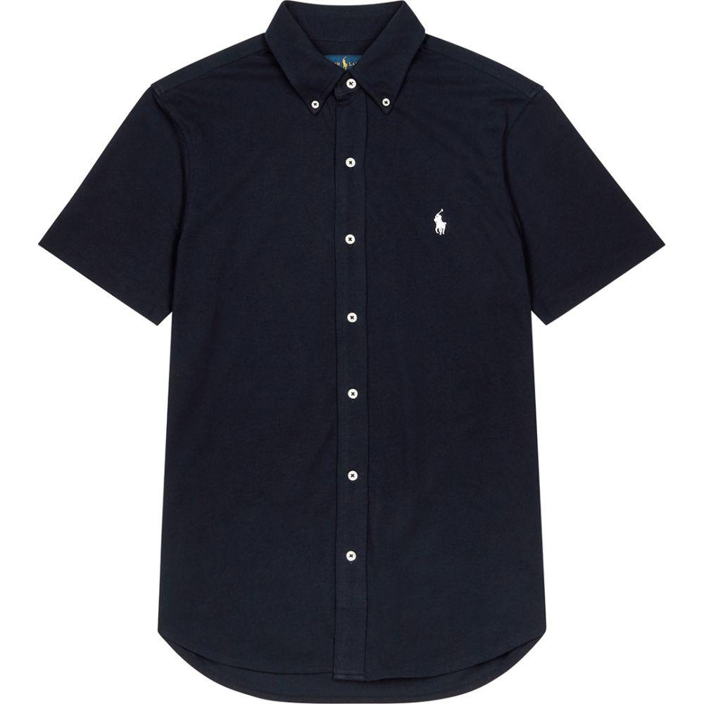ラルフ ローレン Polo Ralph Lauren メンズ 半袖シャツ トップス【Navy Pique Cotton Shirt】Navy