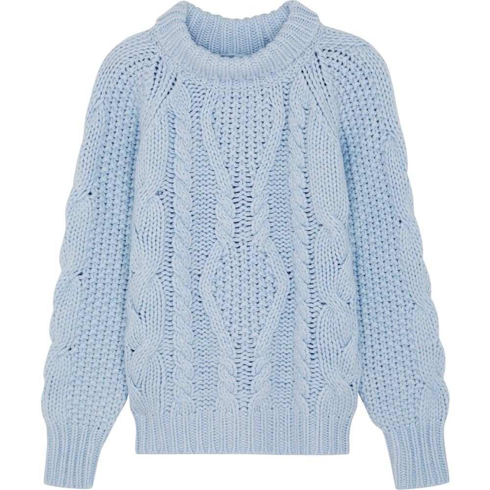 ヴィラオ Villao レディース ニット・セーター トップス【Blue Cable-Knit Wool-Blend Jumper】Blue
