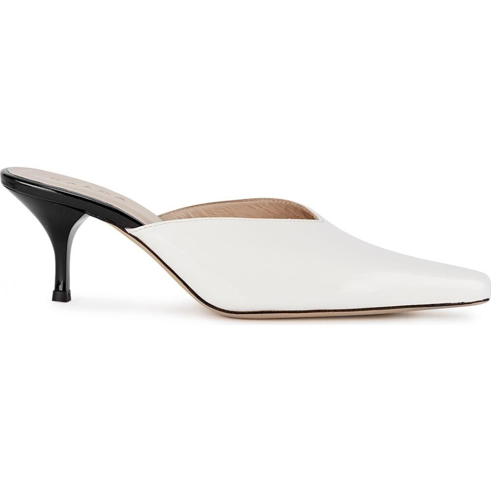 カルダ Kalda レディース サンダル・ミュール シューズ・靴【Alba 65 White Patent Leather Mules】White