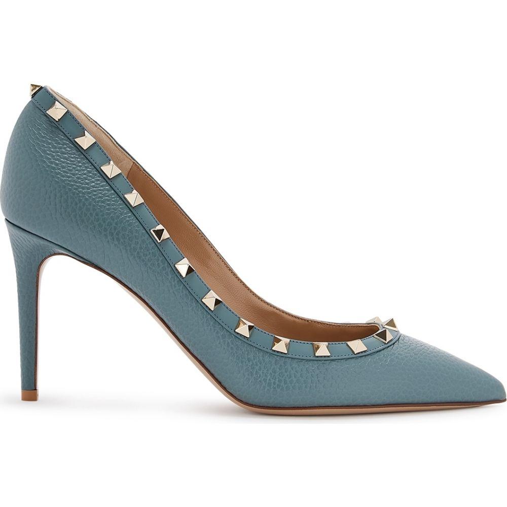 ヴァレンティノ Valentino レディース パンプス シューズ・靴【Garavani Rockstud 85 Blue Leather Pumps】Blue