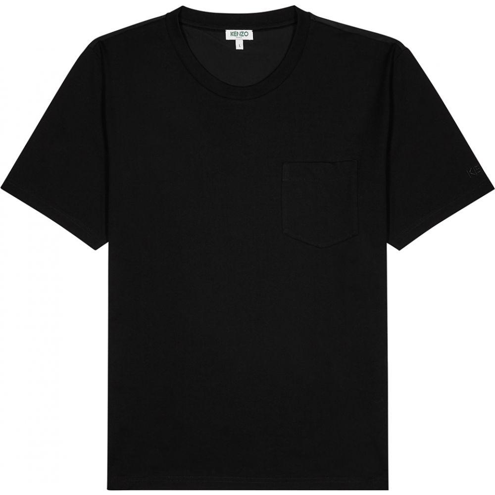 ケンゾー Kenzo メンズ Tシャツ トップス【Black Cotton T-Shirt】Black