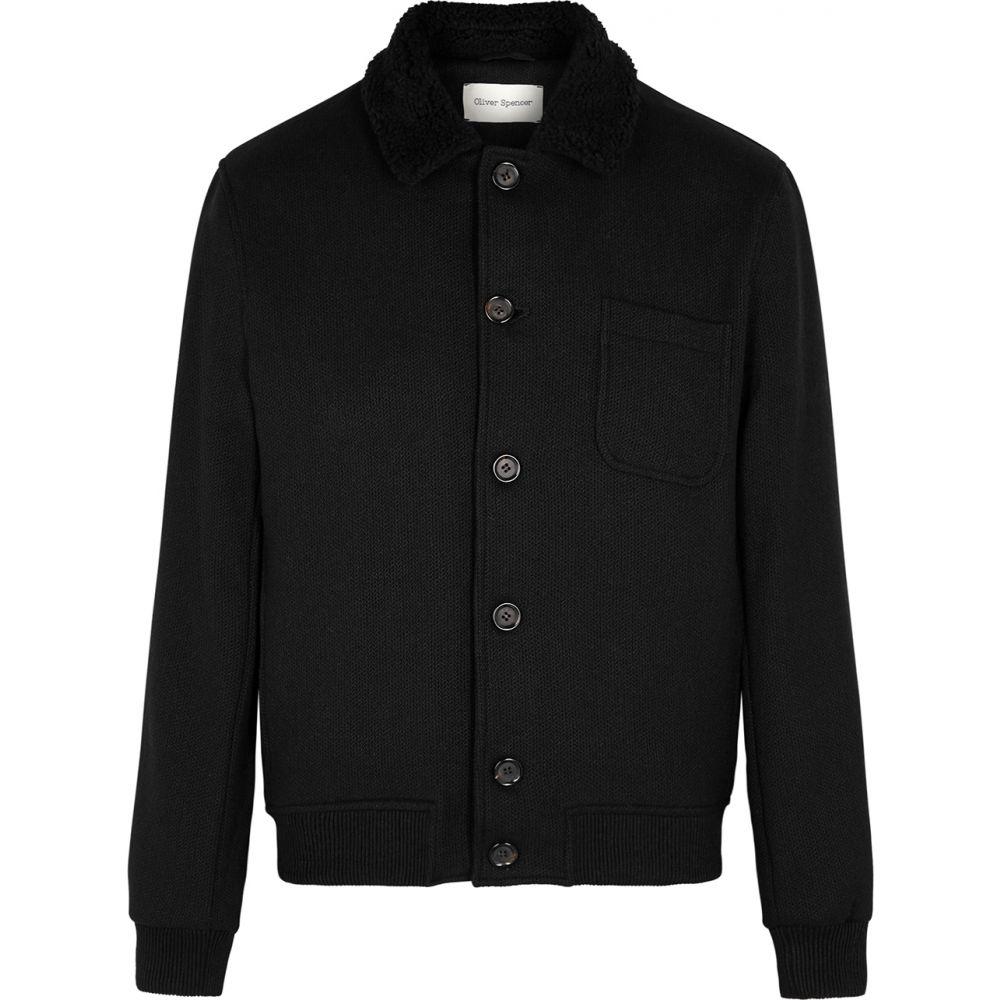 オリバー スペンサー Oliver Spencer メンズ ブルゾン アウター【Foxham Black Wool-Blend Jacket】Black