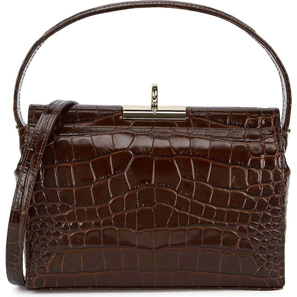 Gu_de レディース ショルダーバッグ バッグ【Milky Crocodile-Effect Leather Shoulder Bag】Brown