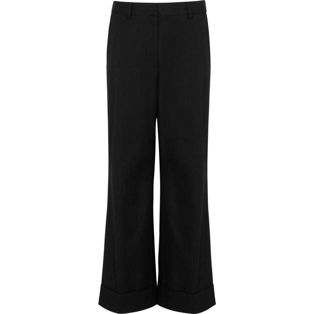ドリス ヴァン ノッテン Dries Van Noten レディース クロップド ボトムス・パンツ【Poiretti Black Cotton-Blend Trousers】Black
