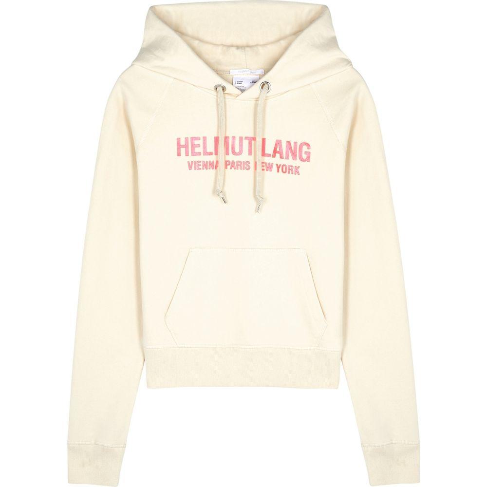 ヘルムート ラング Helmut Lang レディース パーカー トップス【Sand Logo Hooded Cotton Sweatshirt】Yellow