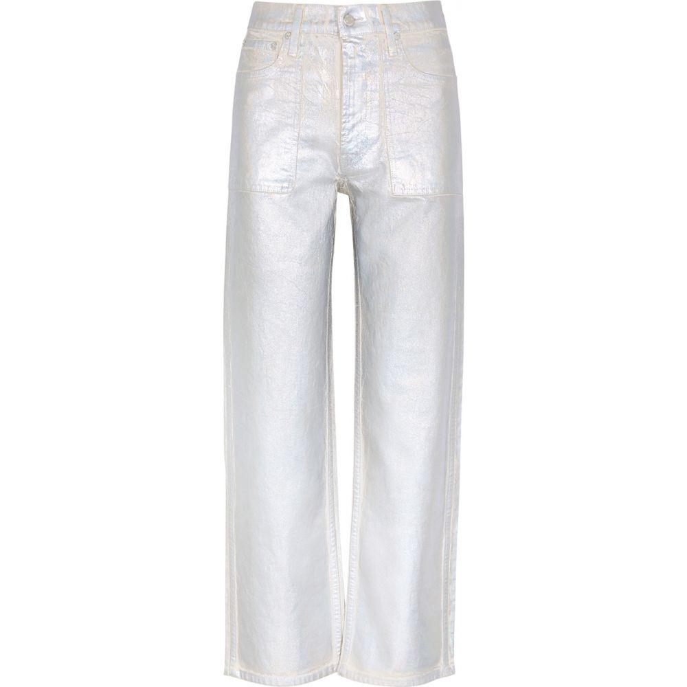 ヘルムート ラング Helmut Lang レディース ジーンズ・デニム ボトムス・パンツ【Metallic Silver Wide-Leg Coated Jeans】Silver