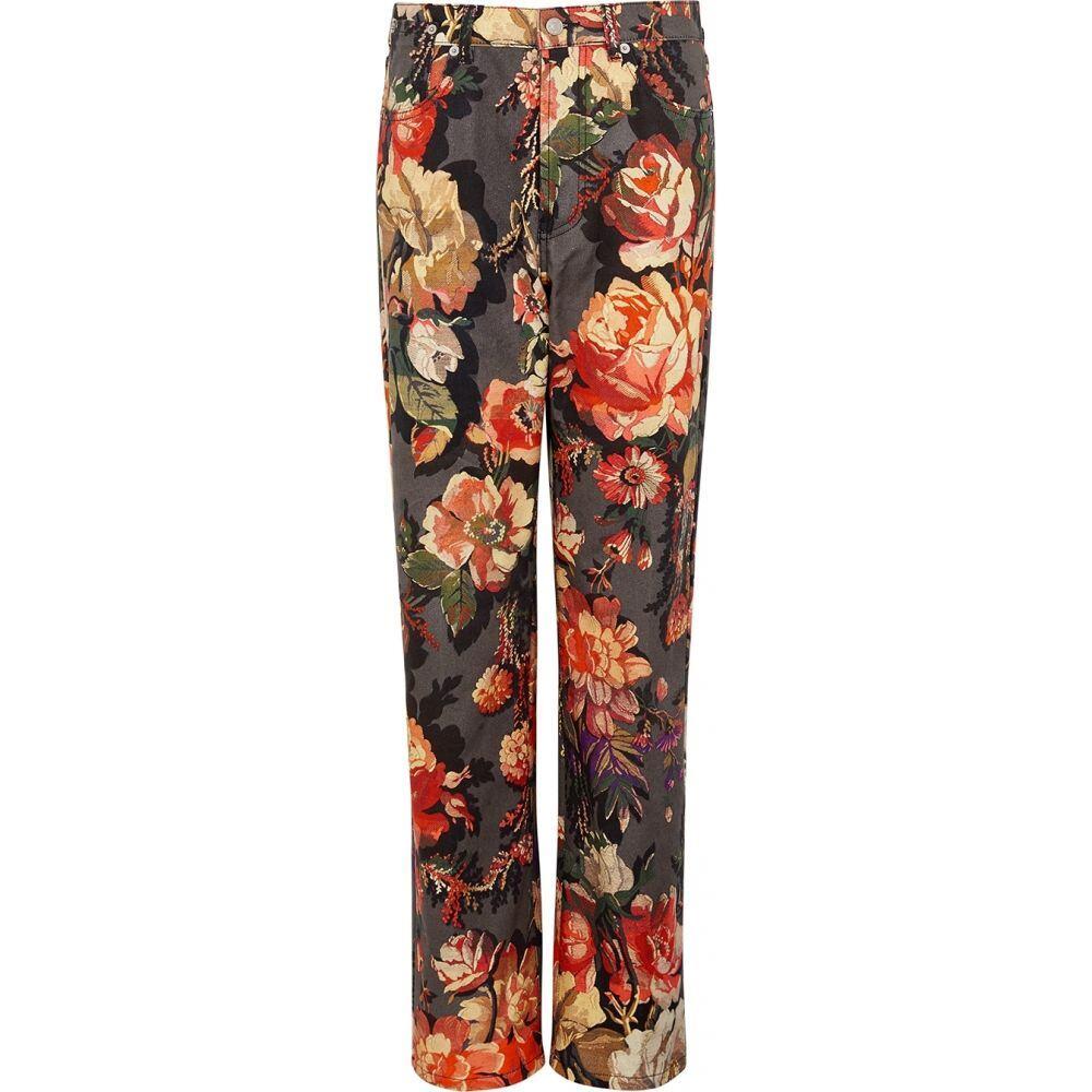 ドリス ヴァン ノッテン Dries Van Noten レディース ジーンズ・デニム ボトムス・パンツ【Piscos Floral-Print Straight-Leg Jeans】Grey