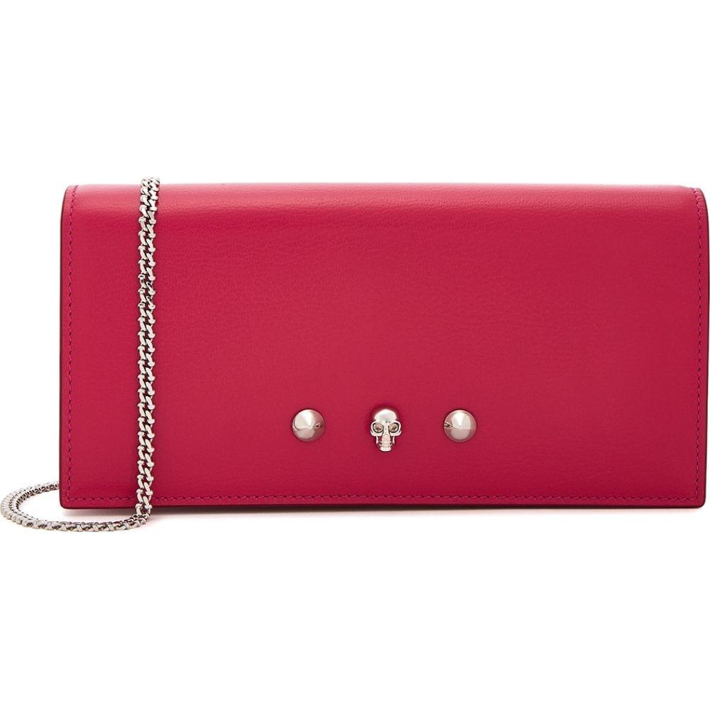 アレキサンダー マックイーン Alexander McQueen レディース 財布 チェーンウォレット【Fuchsia Pink Leather Wallet-On-Chain】Pink
