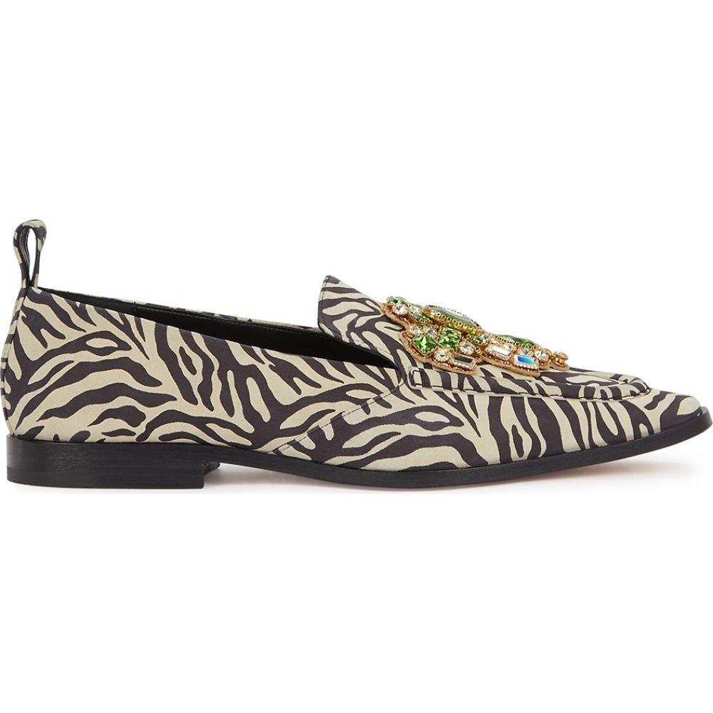 ドリス ヴァン ノッテン Dries Van Noten レディース ローファー・オックスフォード シューズ・靴 Zebra Print Crystal Embellished Loafers WhiteOTwikPZuX
