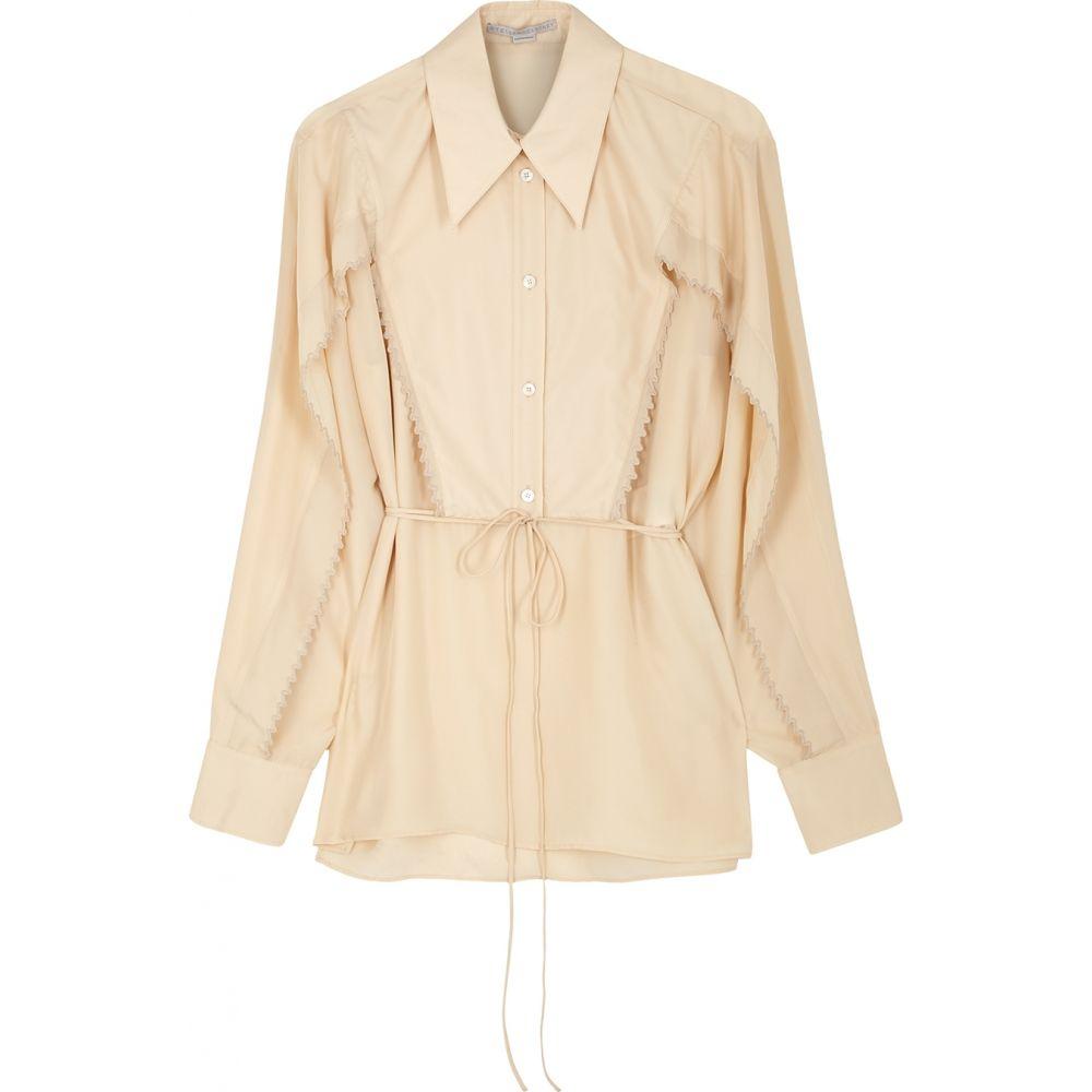 ステラ マッカートニー Stella McCartney レディース ブラウス・シャツ トップス【Tayla Sand Silk Shirt】Natural