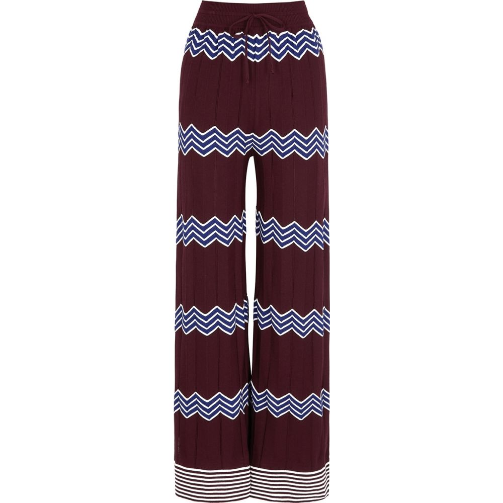 ミッソーニ M Missoni レディース ボトムス・パンツ 【Bordeaux Zigzag Cotton-Blend Trousers】Red