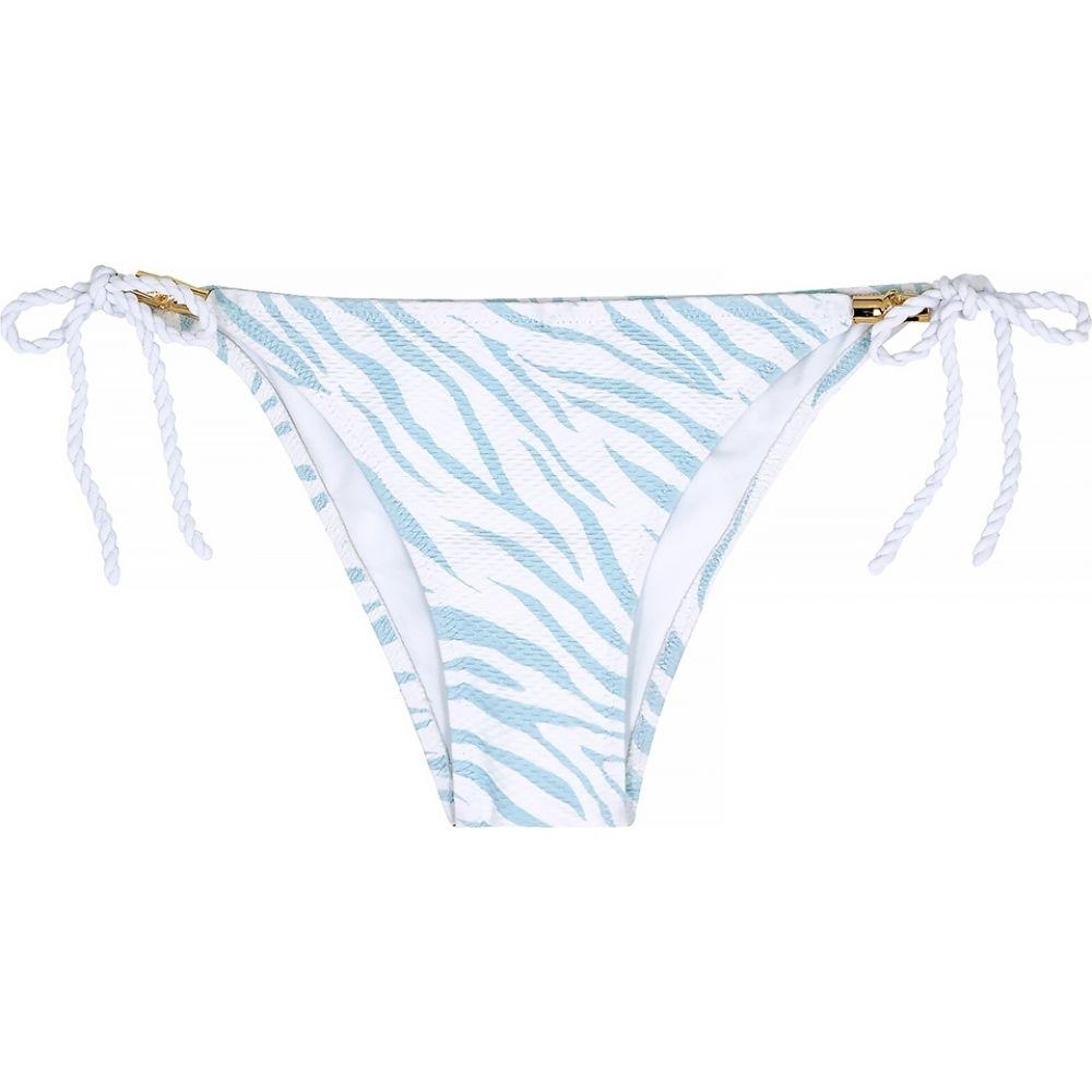 ハイジ クライン heidi klein レディース ボトムのみ 水着・ビーチウェア【Lake Nakuru Zebra-Print Bikini Briefs】White
