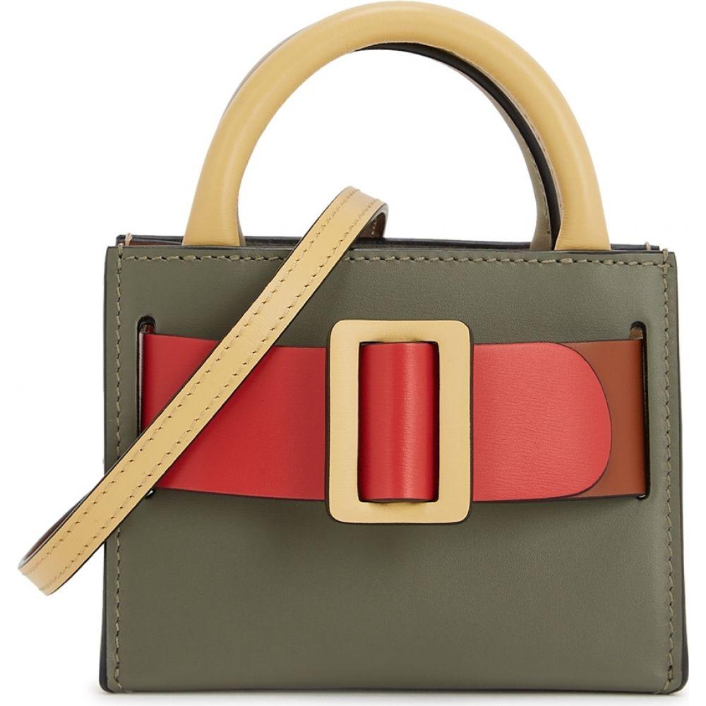 ボーイ Boyy レディース キーホルダー バッグチャーム【Bobby Colour-Blocked Leather Bag Charm】Brown