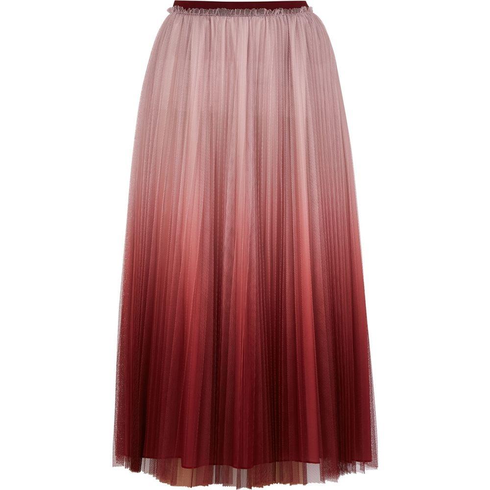 ヴァレンティノ RED Valentino レディース ひざ丈スカート スカート【Pink Degrade Pleated Tulle Midi Skirt】Pink