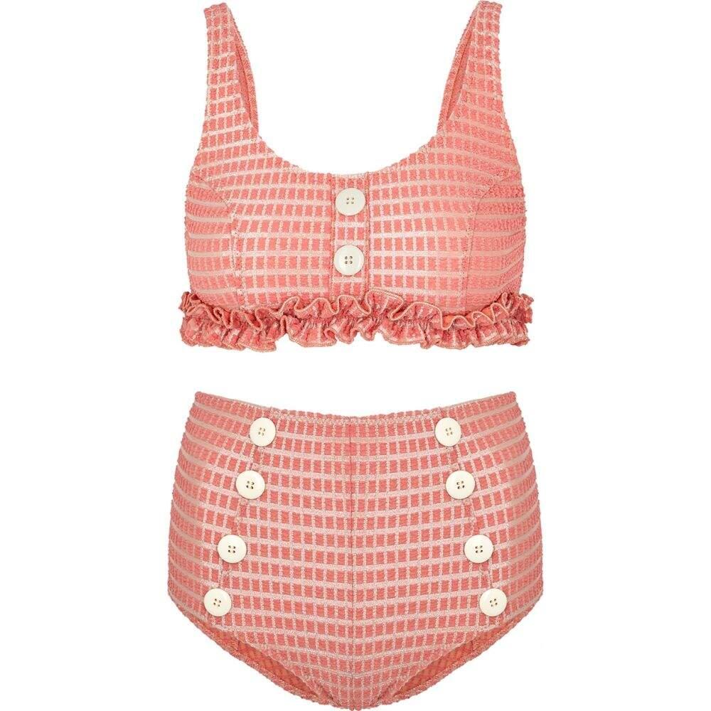 リサ マリー フェルナンデス Lisa Marie Fernandez レディース 上下セット 水着・ビーチウェア【Colby Pink Jacquard Bikini】Pink