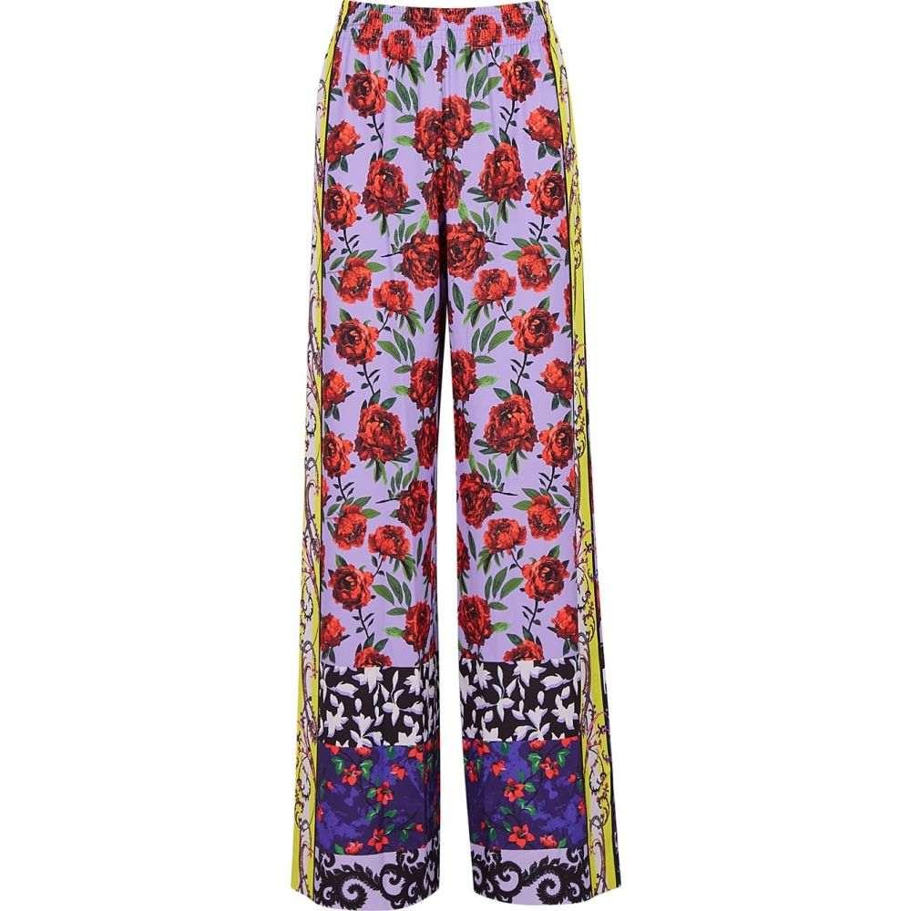アリス アンド オリビア Alice + Olivia レディース ボトムス・パンツ 【Elba Printed Wide-Leg Trousers】Red