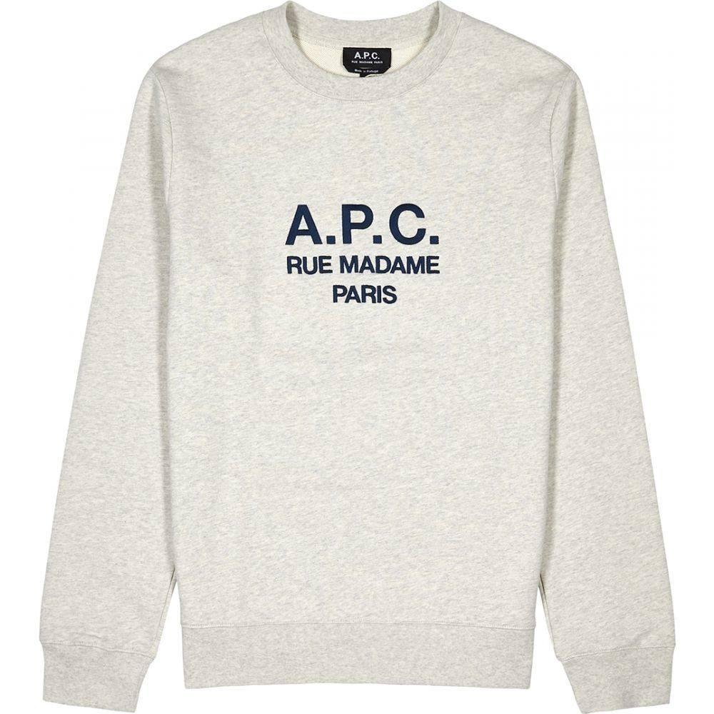 アーペーセー A.P.C. メンズ スウェット・トレーナー トップス【Rufus Logo-Embroidered Cotton Sweatshirt】Grey
