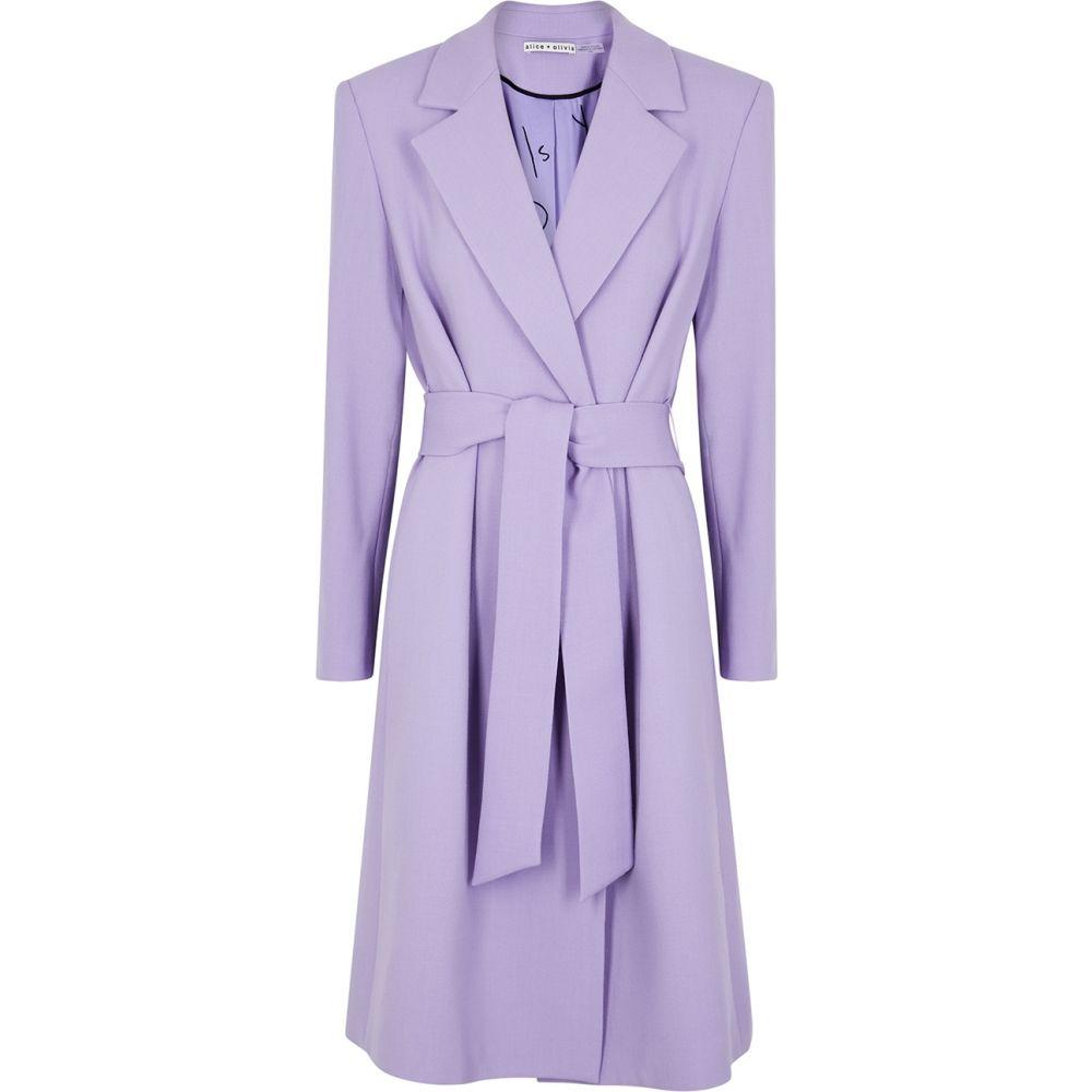 アリス アンド オリビア Alice + Olivia レディース トレンチコート アウター【Irwin Lilac Wool Coat】Purple