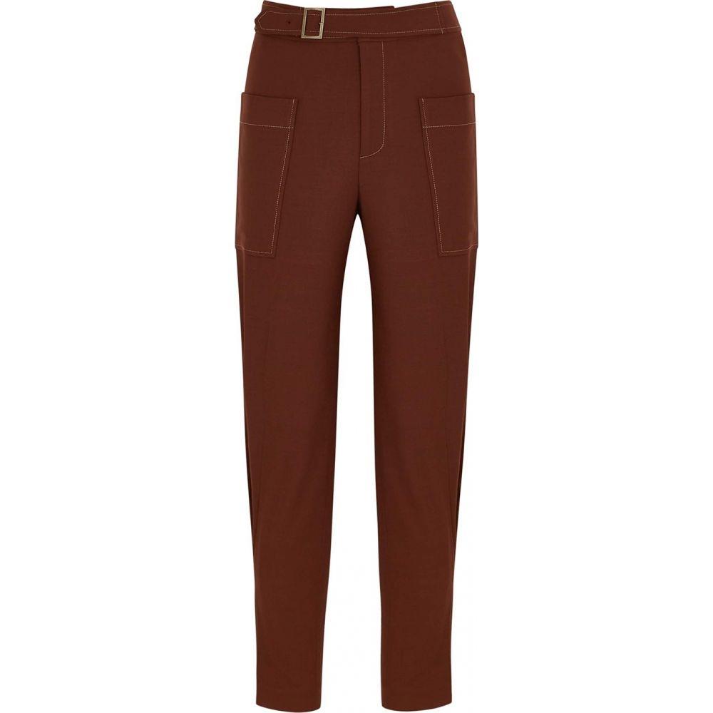 レジーナ ピヨ Rejina Pyo レディース ボトムス・パンツ 【Maxine Brown Tapered Twill Trousers】Brown