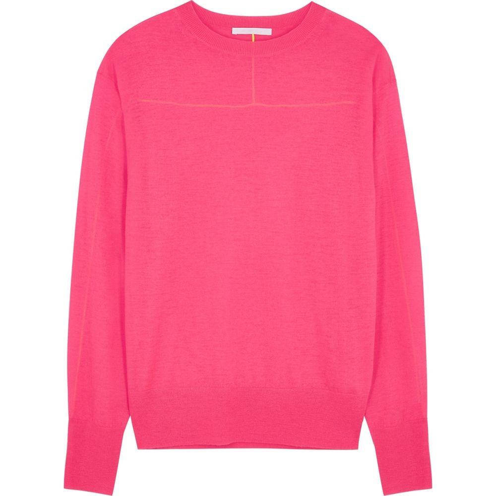 ヘルムート ラング Helmut Lang レディース ニット・セーター トップス【Neon Pink Fine-Knit Cashmere Jumper】Pink