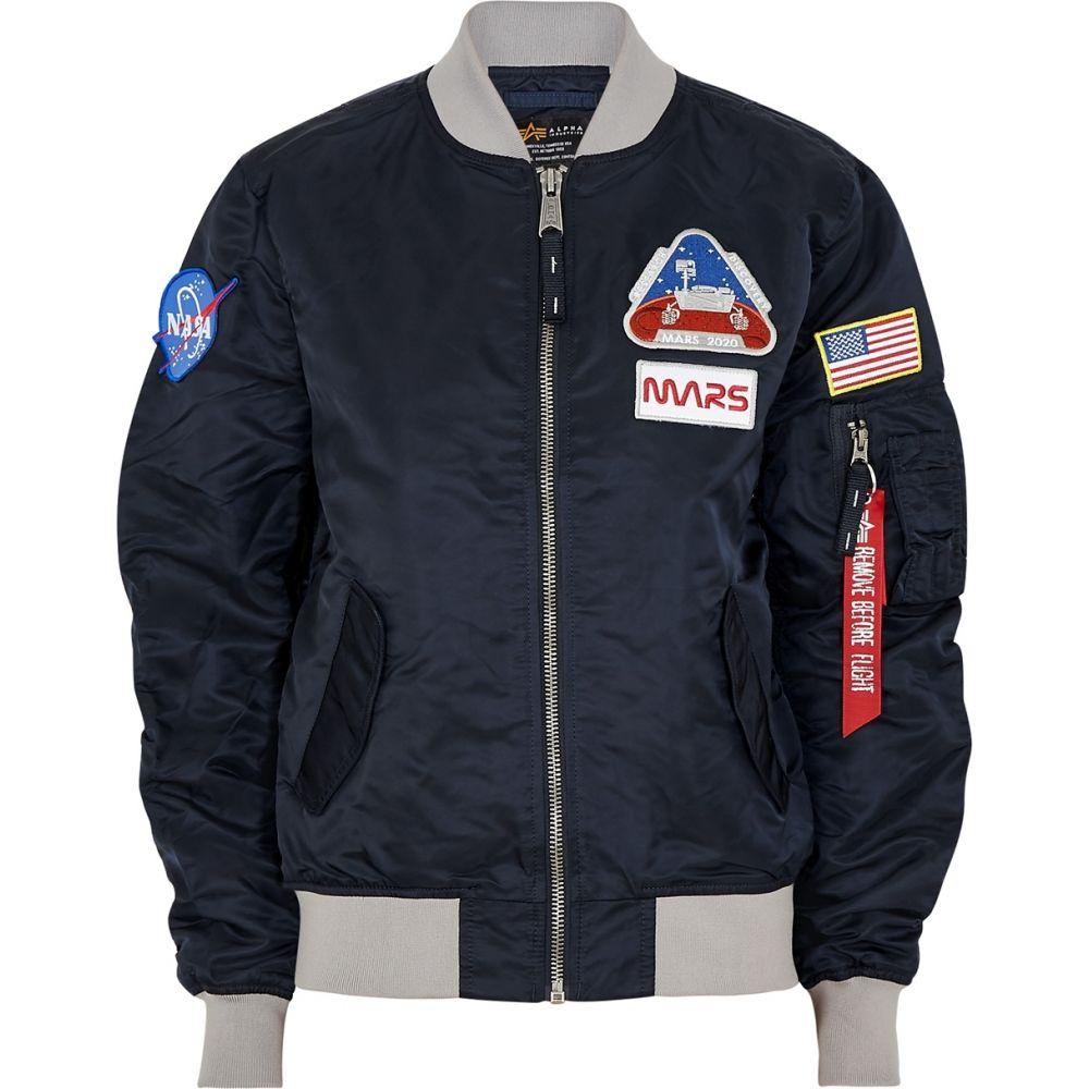 アルファ インダストリーズ Alpha Industries レディース ブルゾン ミリタリージャケット アウター【Ma-1 Mission To Mars Nylon Bomber Jacket】Blue
