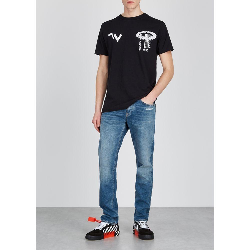 オフホワイト Off White メンズ ジーンズ・デニム ボトムス・パンツ Blue Slim Leg Jeans Blue2EDIHW9Y