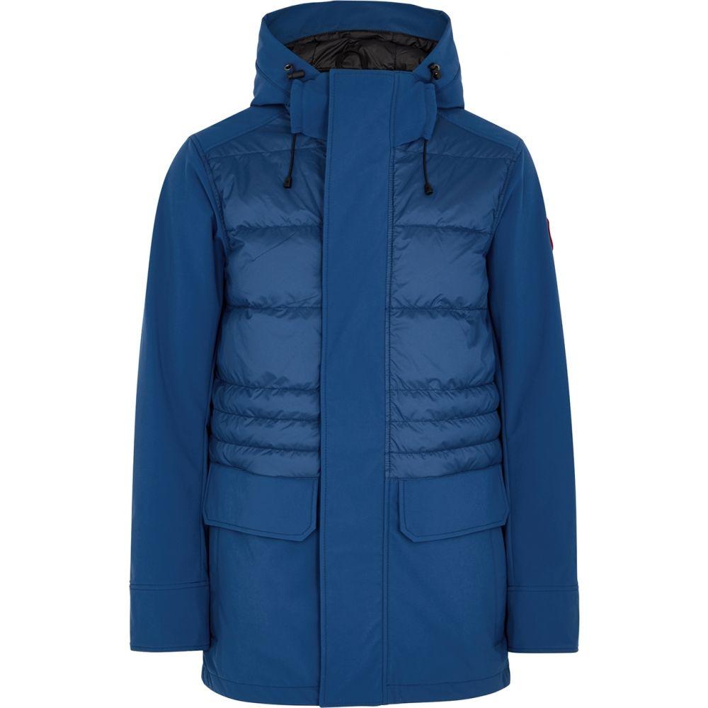 カナダグース Canada Goose メンズ ジャケット シェルジャケット アウター【Breton Blue Quilted Tri-Durance Shell Jacket】Navy