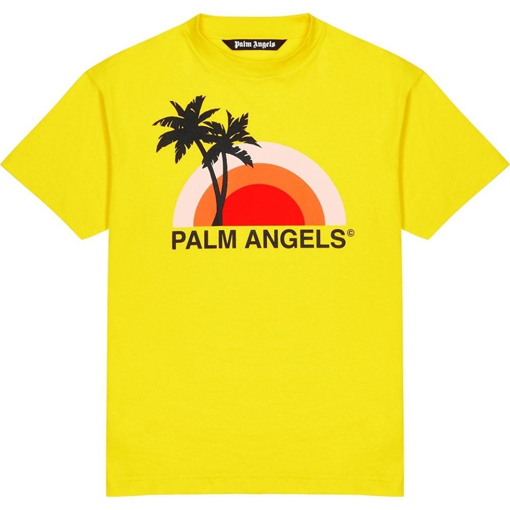 パーム エンジェルス Palm Angels メンズ Tシャツ トップス【Sunset Printed Cotton T-Shirt】Yellow
