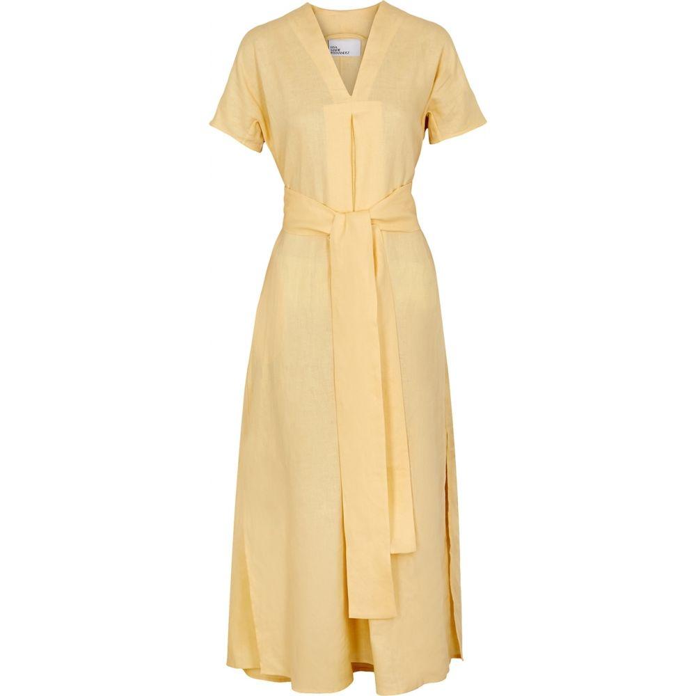 リサ マリー フェルナンデス Lisa Marie Fernandez レディース ビーチウェア ワンピース・ドレス 水着・ビーチウェア【Rosetta Yellow Linen Dress】Yellow