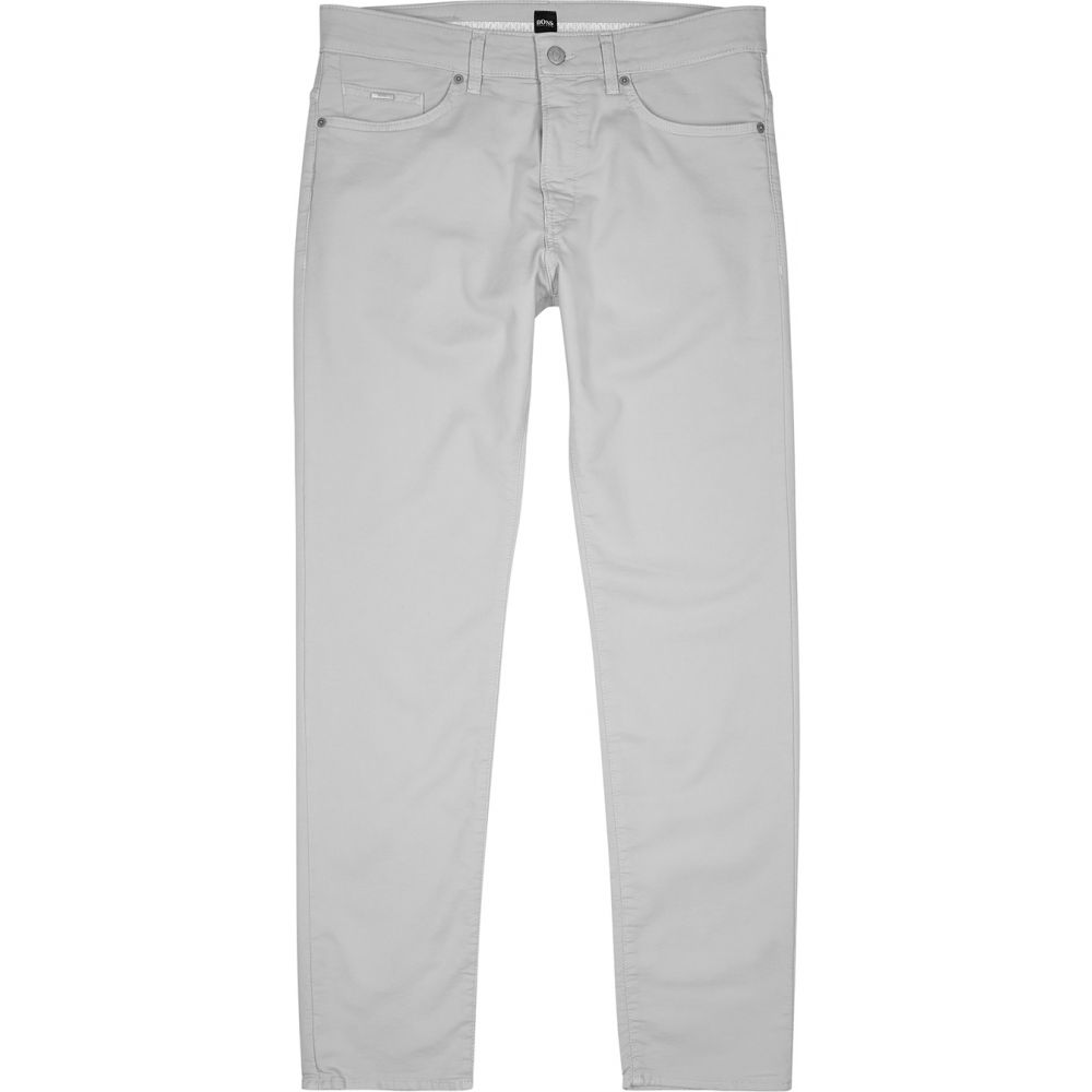 ヒューゴ ボス BOSS メンズ チノパン ボトムス・パンツ【Dellaware Grey Stretch Cotton-Blend Chinos】Grey
