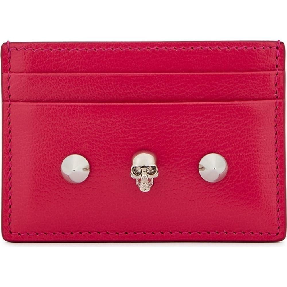 アレキサンダー マックイーン Alexander McQueen レディース カードケース・名刺入れ カードホルダー【Fuchsia Studded Leather Card Holder】Pink