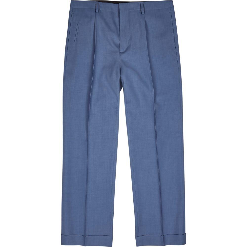 ジバンシー Givenchy メンズ クロップド ボトムス・パンツ【Blue Cropped Wool Trousers】Blue