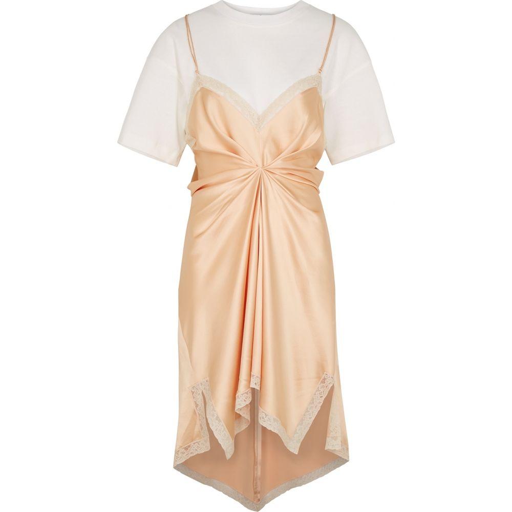 アレキサンダー ワン Alexander Wang レディース ワンピース ワンピース・ドレス【Peach Silk-Satin Dress】Orange