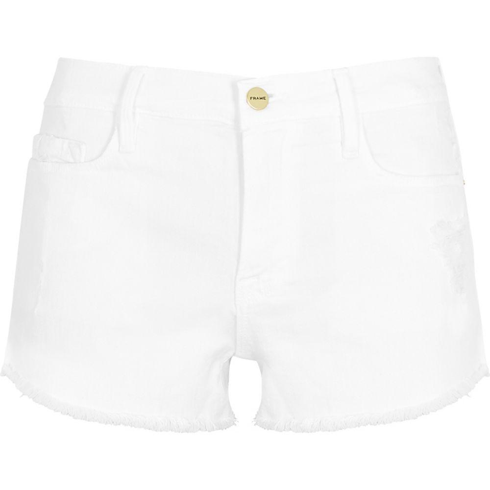 フレーム Frame レディース ショートパンツ デニム ボトムス・パンツ【White Denim Shorts】White