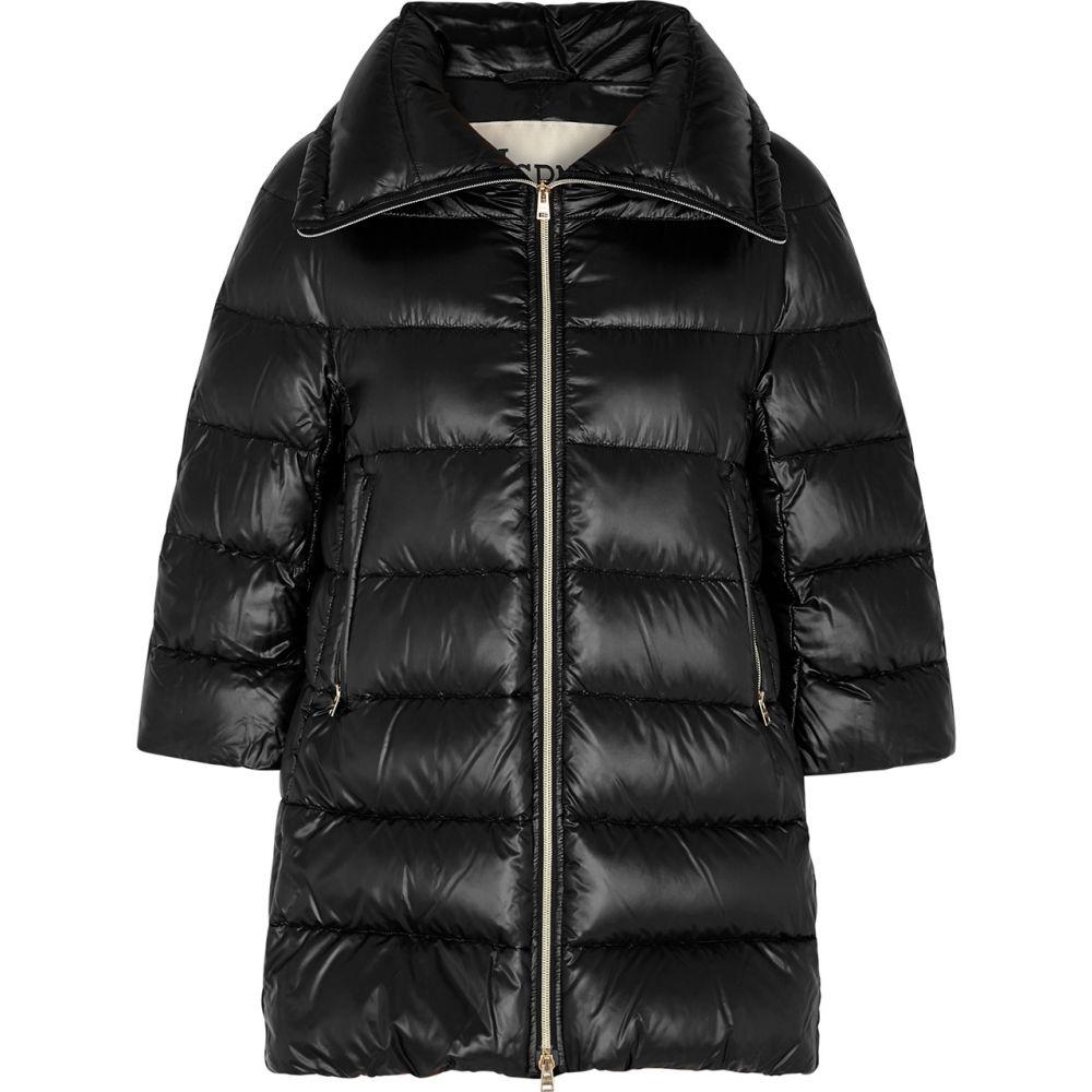 ヘルノ Herno レディース コート アウター【Icon Black Quilted Shell Coat】Black