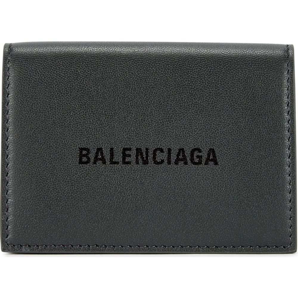 バレンシアガ Balenciaga メンズ 財布 【Mini Dark Grey Leather Wallet】Grey