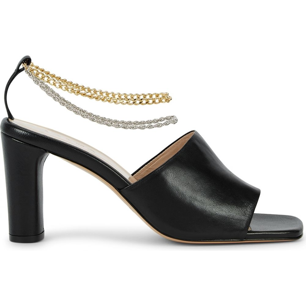 カルダ Kalda レディース サンダル・ミュール シューズ・靴【Inez 75 Black Leather Mules】Black