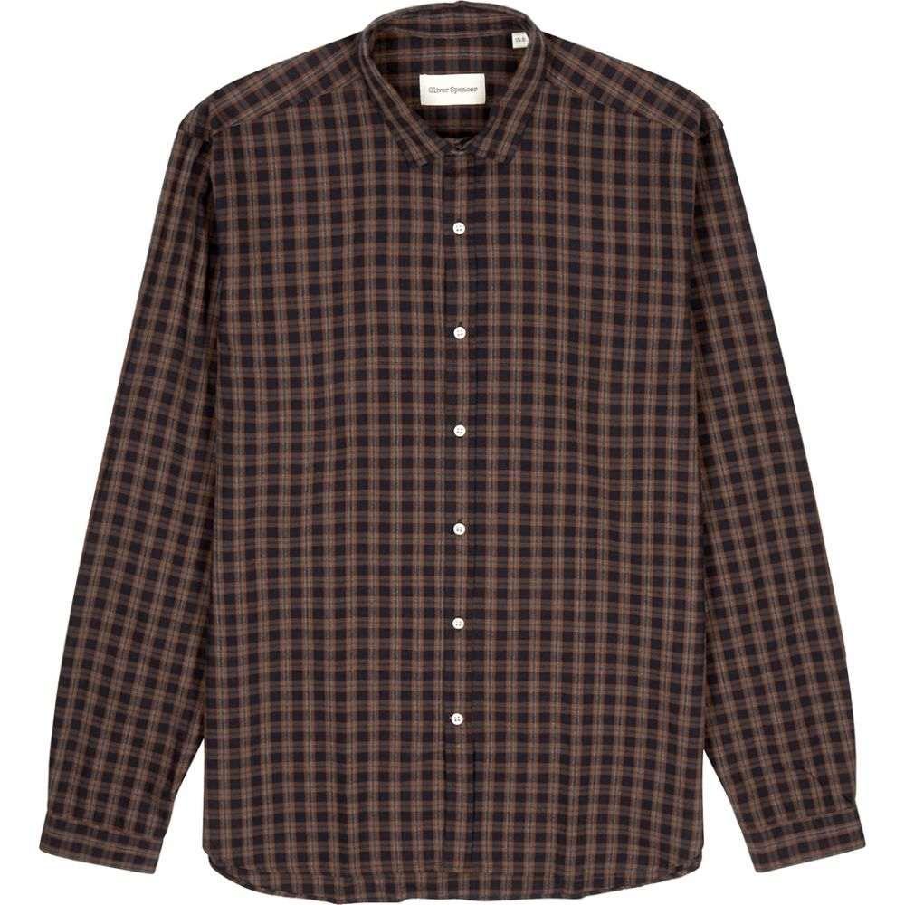 オリバー スペンサー Oliver Spencer メンズ シャツ トップス【Clerkenwell Checked Cotton-Blend Shirt】Orange