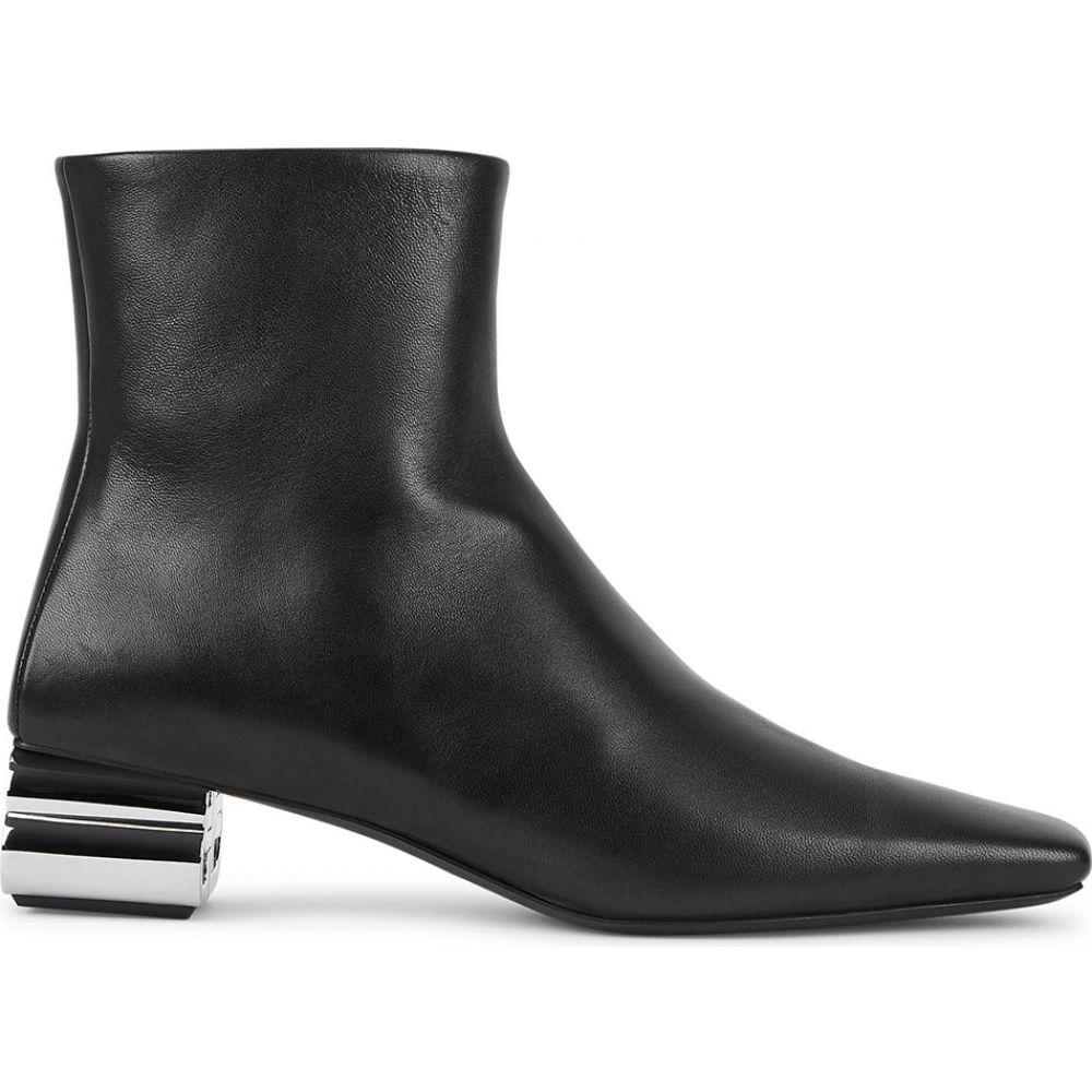 バレンシアガ Balenciaga レディース ブーツ ショートブーツ シューズ・靴【Typo 50 Black Leather Ankle Boots】Black