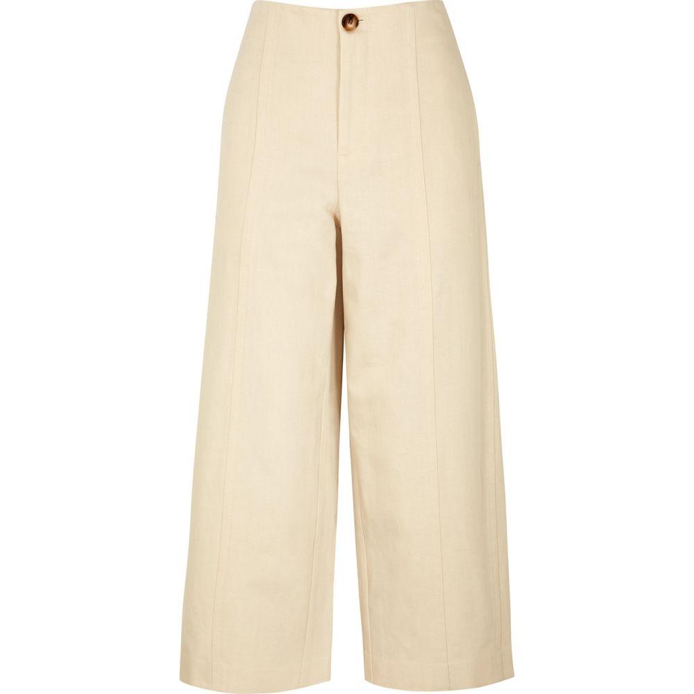 ヴィンス Vince レディース ボトムス・パンツ 【Ecru Wide-Leg Cotton-Blend Trousers】Natural