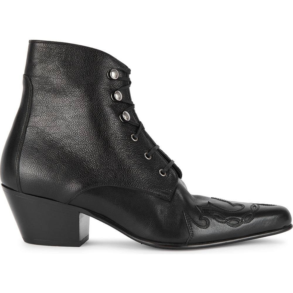 イヴ サンローラン Saint Laurent レディース ブーツ ショートブーツ シューズ・靴【Susan 50 Black Leather Ankle Boots】Black