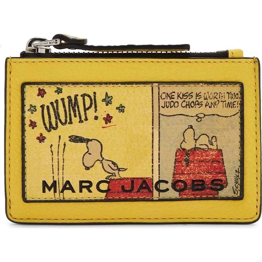 マーク ジェイコブス Marc Jacobs レディース カードケース・名刺入れ カードホルダー【X Peanuts Printed Leather Card Holder】Yellow
